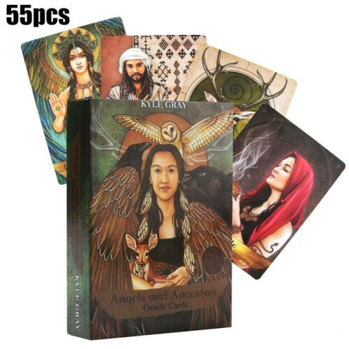 Angels And Ancestors Tarot Oracle Cards Board Game 55-Card Deck Divination