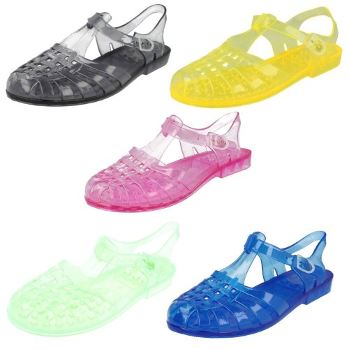 Ladies Spot On Transparent Jelly Shoes