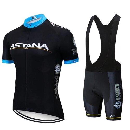 Team ASTANA White Cycling Clothing Bike Jersey Ropa Mens Bicycle Summer Pro Cycling Jerseys 20D Gel Pad Bike Shorts