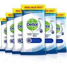 756pk Dettol Cleansing Surface Wipes | 6 x 126 Large Antibacterial Wipes