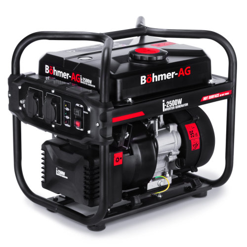 Bohmer-AG i-2500W Portable Inverter Petrol Generator 2.0kW   Quiet Electric Camping Power