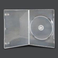 Vision Media 25 X Single Clear Slim 7mm DVD/CD/BLU RAY Case