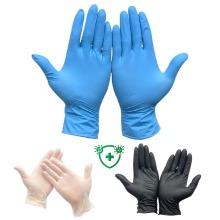 100pcs Powder Free Nitrile Gloves Black Blue