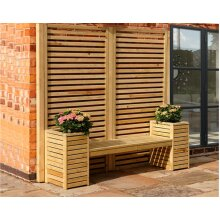 Garden love bench with flower pots