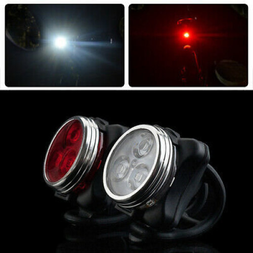 Bike Lights Rechargeable Cycling Bicycle Head Front Rear Clip Light