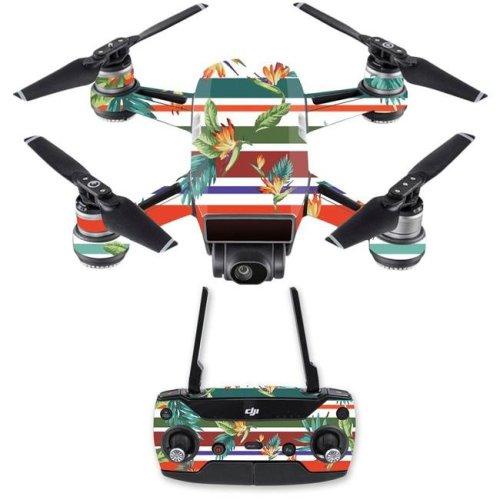 MightySkins DJSPCMB-Tropics Skin Decal Wrap for DJI Spark Mini Drone Combo Sticker - Tropics