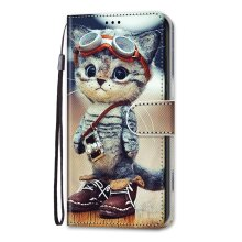 Nokia 1.4 Case Pattern Cover Folio with kickstand Cat in leather shoes