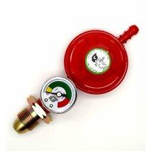 Igt 37Mbar Propane Gas Regulator With Pressure Gauge Fits Calor Gas & Flogas