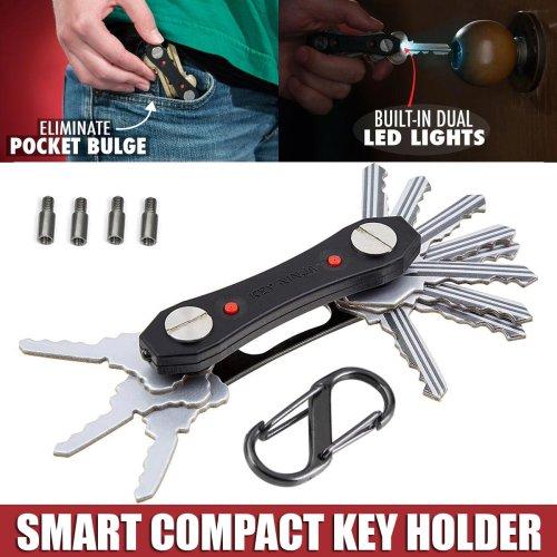 Smart Key Holder Ninja Folding Keychain Compact Tool Organiser LED