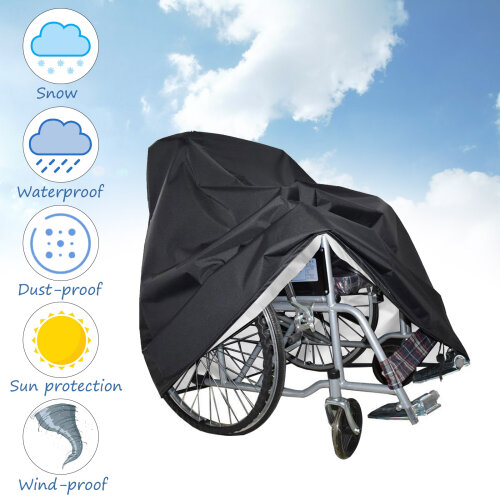 Waterproof Rain Protection Wheelchair Cover for Folding Wheelchairs