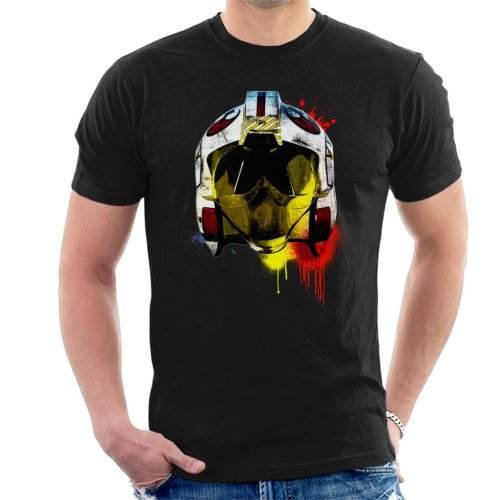 Original Stormtrooper Rebel Pilot Helmet Paint Splatter Men's T-Shirt