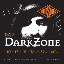 RotoSound DZ10 Nickel Plated Darkzone Customer Gauge Electric Guitar Strings, Custom