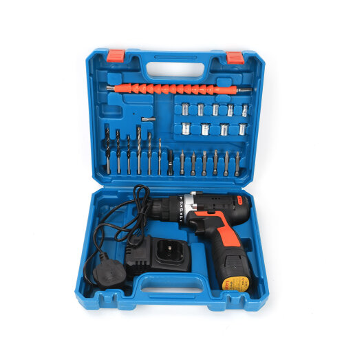 18V Cordless Drill Dual Speed+Li-Ion Fast Charge Electric Screwdriver