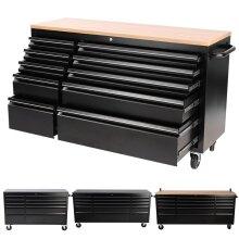 Heavy Duty 55 Inch Tool Chest 10 Drawers Roller Cabinet Garage Storage Box
