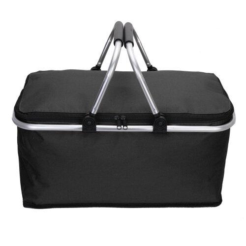 (black) Folding Lunch Picnic Camping Cooler Hamper Bag