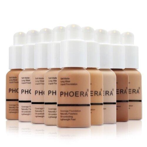 Phoera Full Coverage Liquid Matte Foundation - 30ml
