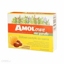 AMOLowe z miodem i witamin? C 16 past NATURSEPT Junior-angin Herbitussin