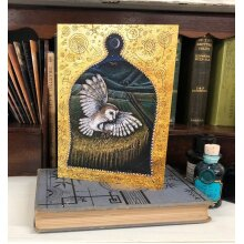 Silent Wings Greetings card by Hannah Willow