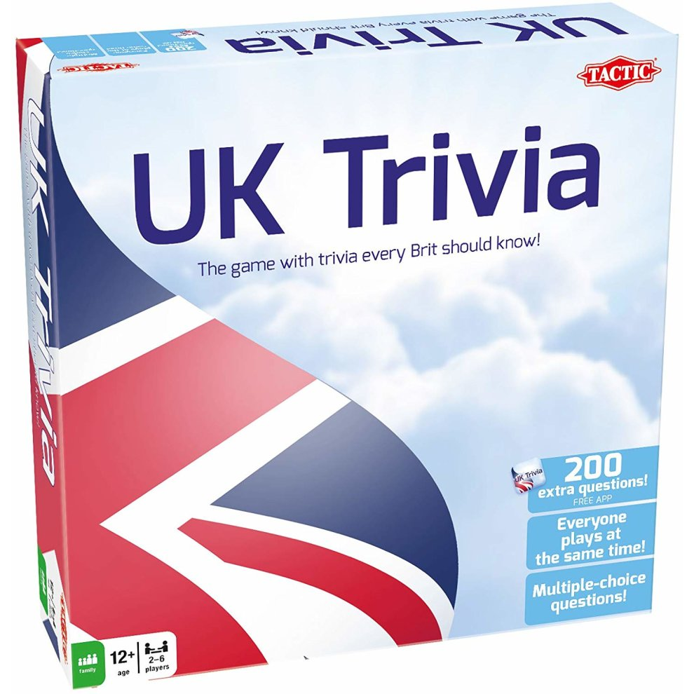 Tactic UK Trivia Quiz Game - The Game With Trivia Every Brit Should Know!