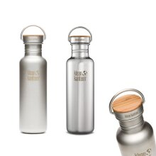 Klean Kanteen Reflect - Stainless Steel water bottle with Unibody Bamboo Cap
