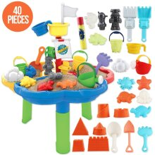 deAO Sand and Water Activity Table for Children with Water Blaster and Accessories