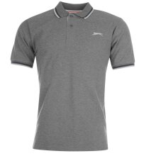 Slazenger Mens Tipped Polo T Shirt Short Sleeve Classic Fit Tee Top Clothing