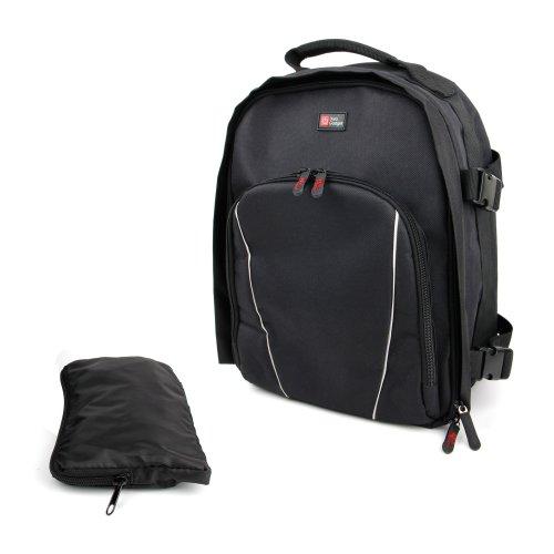 DURAGADGET SLR Camera Rucksack Backpack Bag with Rain Cover!