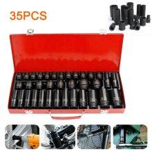 "35X Impact Socket 1/2"" inch Deep Tool Set Metric Garage Workshop Hi"