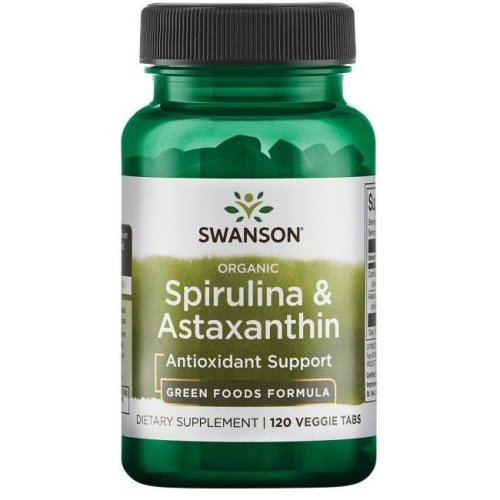 Spirulina & Astaxanthin, Organic - 120 veggie tabs