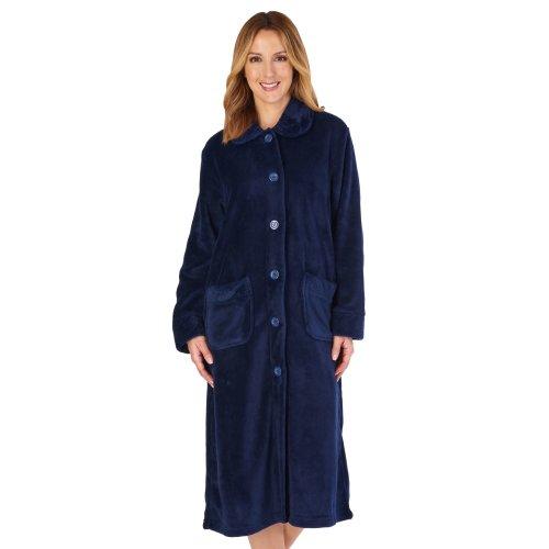 (Navy, Small) Slenderella HC4301 Women's Housecoats Dressing Gown