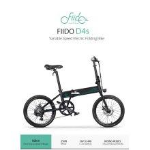 "EU Delivery FIIDO D4s 20"" Electric Folding Bike 80km Mileage 6-Speed Shift"