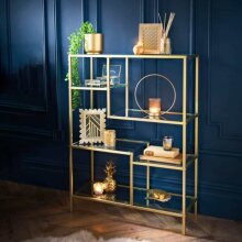 Plaza Glass Floor Shelving Unit Ideal Decorative Storage To Your Home.