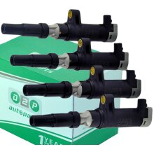 4x PENCIL IGNITION COIL PACK FOR RENAULT ESPACE GRAND SCENIC LOGAN MODUS TWINGO