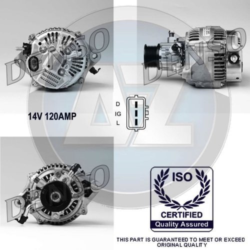 120A 12V Alternator For Land Rover Defender /& Discovery 2.5 Td5 4x4 Diesel Fuel