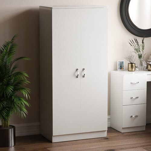 Home Discount Riano 2-Door Bedroom Wardrobe