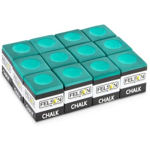 Brybelly SFELS-010 Pool Cue Chalk, Green - Pack of 12