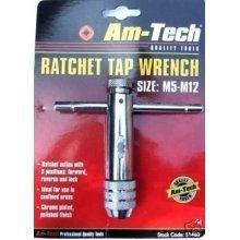 Ratchet Tap Wrench - Large - Bar Die Set Reversible Forward Reverse Lock M5 M12 -  tap ratchet wrench bar die set reversible forward reverse lock