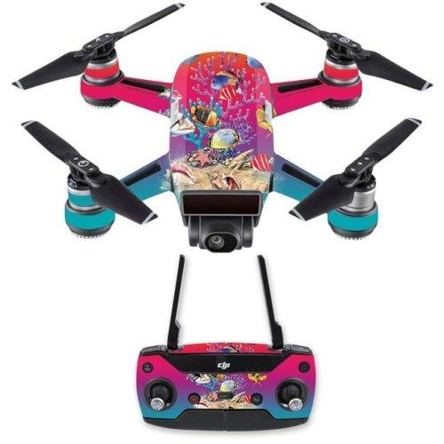 MightySkins DJSPCMB-Coral Garden Skin Decal for DJI Spark Mini Drone Combo Sticker - Coral Garden