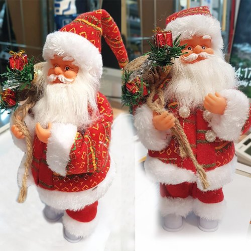 Musical Light Christmas Santa Claus Figure Decorations Electric Singing Gift
