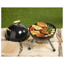 Hairy Bikers Portable Mini BBQ Round Non Stick Stainless Steel