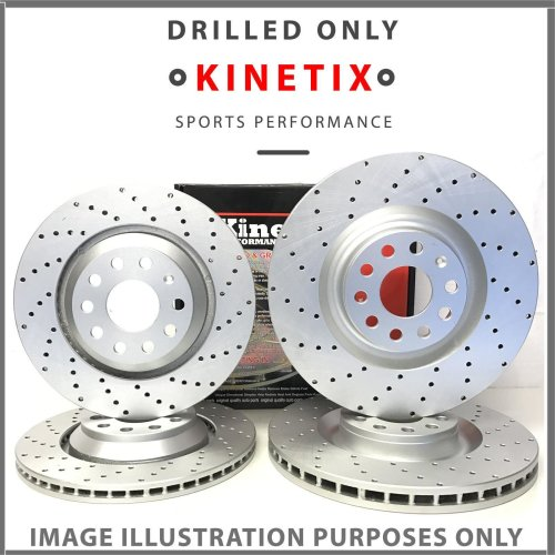 K459 For BMW 3 Series E92 Coupe 318i 10-15 Front Rear Drilled Brake Discs