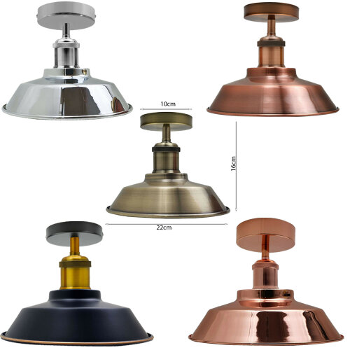 Ceiling Light Retro Vintage Industrial Lampshade Fitting UK. (Bulb is not included)