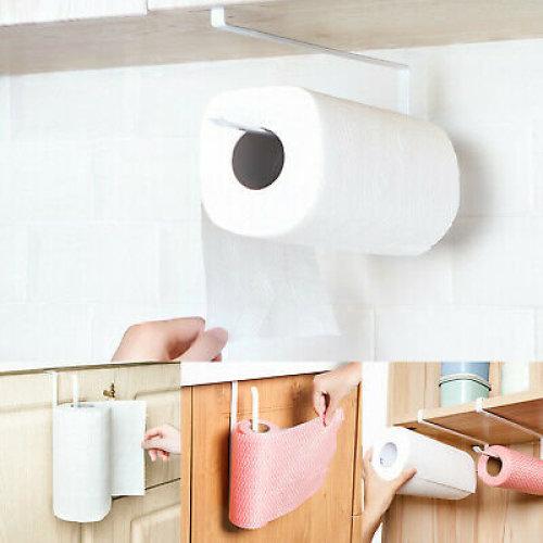 Kitchen  Roll  Under Shelf Roll Holder Cabinet Paper Towel  no punching UK