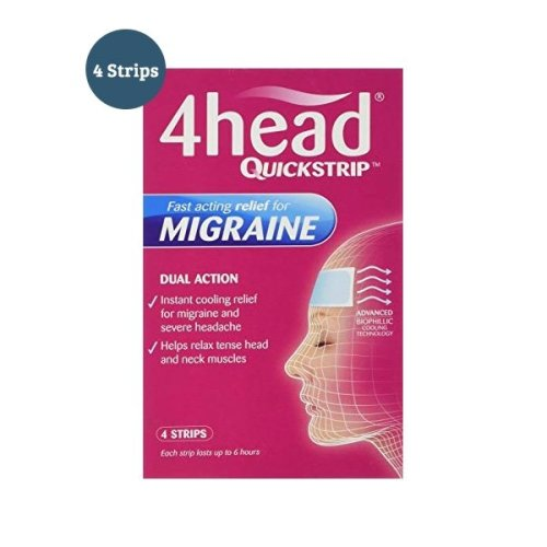 4Head Quickstrip Migraine Relief 4 Strips