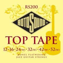 Rotosound Monel Flatwound Medium Gauge Electric Guitar Strings (12 16 24 32 42 52)