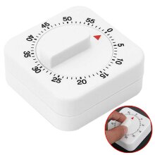 Kitchen Timer 60 Minutes Cooking Ring Mechanical Counter WIND-UP Alarm Clock