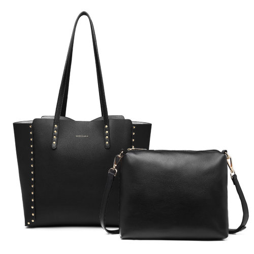 Miss Lulu 2-In-1 Reversible Tote And Shoulder Bag