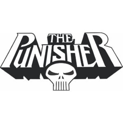 Sticker - Marvel - Punisher - Skull New Rub-Ons s-3307-r