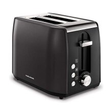 Morphy Richards 222058 Stainless Steel Toaster, Black 2 Slice