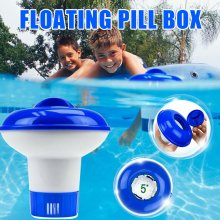Swimming Pool Cleaning Floating Chlorine Chemical Tablet Dispenser For Hot Tub